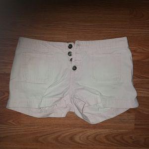 Campus Crew pink denim shorts